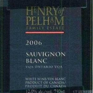 亨利佩勒姆家族酒庄长相思干白葡萄酒(Henry of Pelham Family Estate Sauvignon Blanc,Niagara ...)
