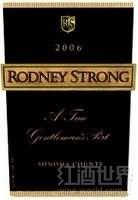 罗德尼斯特朗绅士波特风格加强酒(Rodney Strong A True Gentlemans Port,Sonoma County,USA)