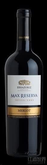 伊拉苏特级珍藏梅洛干红葡萄酒(Errazuriz Max Reserva Merlot, Aconcagua Valley, Chile)