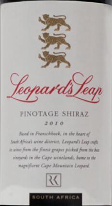 猎豹皮诺塔基-西拉干红葡萄酒(Leopard's Leap Pinotage-Shiraz,Franschhoek Valley,South ...)
