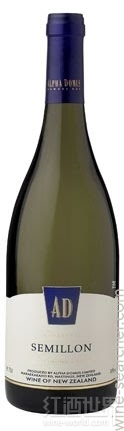 阿尔法·多默斯AD赛美蓉干白葡萄酒(Alpha Domus AD Semillon,Hawke's Bay,New Zealand)