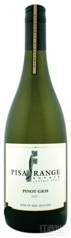 比萨谷灰皮诺干白葡萄酒(Pisa Range Estate Pinot Gris,Central Otago,New Zealand)