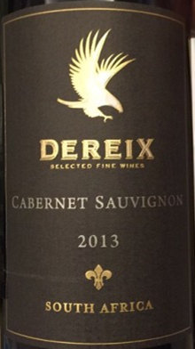 德雷克斯赤霞珠干红葡萄酒(Dereix Cabernet Sauvignon,Northern Cape,South Africa)
