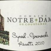 圣母酒庄歌海娜西拉混酿干红葡萄酒(Domaine Notre Dame de Cousignac Grenache Syrah,Mediterranee,...)