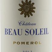 太阳王古堡红葡萄酒(Chateau Beau Soleil, Pomerol, France)