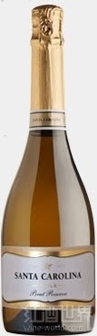 圣卡罗珍藏天然起泡酒(Santa Carolina Sparkling Brut Reserve,Valle de Casablanca,...)