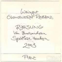 Okonomierat Rebholz 'vom Buntsandstein' Riesling Spatlese ...