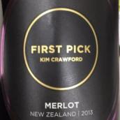金凯福首次采摘梅洛干红葡萄酒(Kim Crawford First Pick Merlot,New Zealand)