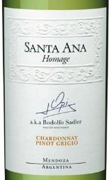 圣安纳霍美吉系列霞多丽灰皮诺混酿干白葡萄酒(Bodegas Santa Ana Homage Chardonnay-Pinot Grigio,Mendoza,...)