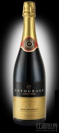 杰克逊瑞格园随从金色系列梅洛起泡酒(Jackson-Triggs Entourage Gold Series Merlot Sparkling,...)