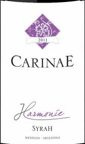 卡瑞尼和谐西拉干红葡萄酒(Carinae Harmonie Syrah, Mendoza, Argentina)