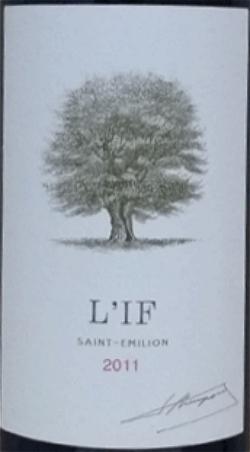 紫杉酒庄红葡萄酒(L'if, Saint Emilion, France)