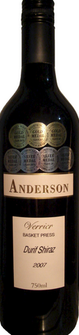 安德森维里尔杜瑞夫-西拉干红葡萄酒(Anderson Winery Verrier Durif Shiraz,Rutherglen,Australia)