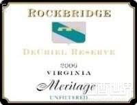 岩石桥达莎珍藏梅里蒂奇干红葡萄酒(Rockbridge Vineyard DeChiel Reserve Meritage,Virginia,USA)