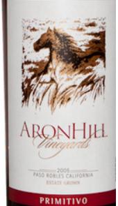 艾伦山酒庄普里米蒂沃干红葡萄酒(Aron Hill Estate Primitivo,California,America)