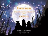 感恩酒庄三只熊珍藏赤霞珠干红葡萄酒(Ektimo Vineyards Three Bears Cabernet Sauvignon, California, USA)