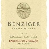 本齐格巴尔园白麝香干白葡萄酒(Benziger Family Winery Bartolucci Vineyard Muscat Canelli,...)