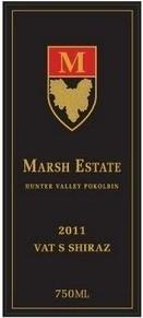 """马什增值""""S""""系列西拉干红葡萄酒(Marsh Estate Vat%22S%22 Shiraz,Hunter,Australia)"""