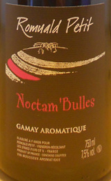 罗曼尔德诺塔布勒桃红起泡酒(RomualdPetit Noctam'Bulles,Beaujolais,France)