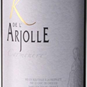 爱河桥酒庄佳美娜干红葡萄酒(Domaine de l'Arjolle K – Carmenere,Cotes de Thongue,France)