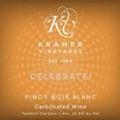 克雷默酒庄欢庆黑皮诺白起泡葡萄酒(Kramer Vineyards Celebrate Pinot Noir Blanc Sparkling, Yamhill-Carlton District, U.S.A.)