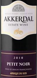 阿可黛佩特努马尔贝克-梅洛-丹娜干红葡萄酒(Akkerdal Petit Noir Malbec-Merlot-Tannat,Franschhoek Valley,...)