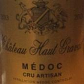 上格拉瓦酒庄艺术家红葡萄酒(Chateau Haut Gravat Cru Artisan,Haut-Medoc,France)