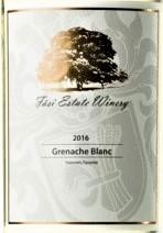 法丝歌海娜干白葡萄酒(Fasi Estate Winery Grenache Blanc,Medera County,USA)