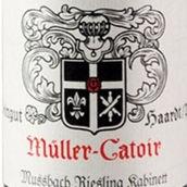 卡托尔慕斯巴澈雷司令小房酒(Muller-Catoir Mussbach Riesling Kabinett Trocken, Pfalz, Germany)
