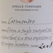 伊拉苏单一葡萄园佳美娜干红葡萄酒(Errazuriz Single Vineyard Carmenere, Aconcagua Valley, Chile)