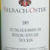 泽巴赫塞尔廷日晷园雷司令迟摘干白葡萄酒(Selbach-Oster Zeltinger Sonnenuhr Riesling Spatlese Trocken, Mosel, Germany)
