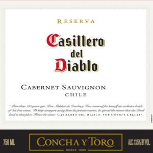 干露红魔鬼珍藏赤霞珠干红葡萄酒(Concha y Toro Casillero del Diablo Reserva Cabernet Sauvignon, Central Valley, Chile)