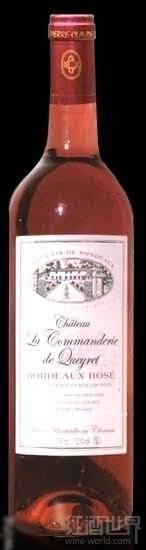 骑士盖雷桃红葡萄酒(Chateau La Commanderie de Queyret Rose,Bordeaux,France)