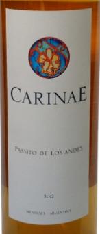 卡瑞尼安第斯帕赛托甜白葡萄酒(Carinae Passito de Los Andes, Mendoza, Argentina)