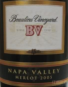 柏里欧梅洛干红葡萄酒(Beaulieu Vineyard BV Merlot,Napa Valley,USA)