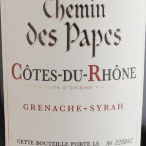 教皇之路干红葡萄酒(Chemin des Papes Rouge,Cotes du Rhone,France)