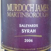 默多克寄养场西拉干红葡萄酒(Murdoch James Saleyards Syrah, Martinborough, New Zealand)