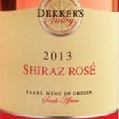 麦拉萨特德克山谷西拉桃红葡萄酒(Mellasat Dekker's Valley Shiraz Rose,Paarl,South Africa)