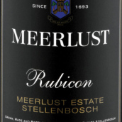 美蕾卢比肯干红葡萄酒(Meerlust Rubicon,Stellenbosch,South Africa)