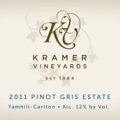 克雷默酒庄庄园灰皮诺白葡萄酒(Kramer Vineyards Estate Pinot Gris, Yamhill-Carlton District, U.S.A.)