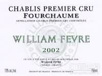威廉·费尔福夏园干白葡萄酒(Domaine William Fevre Fourchaume, Chablis, France)