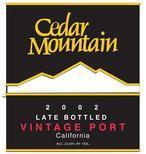 雪松山迟装瓶年份波特风格加强酒(Cedar Mountain Winery Late Bottled Vintage Port,California,...)