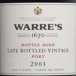辛明顿家族华莱仕迟装瓶年份波特酒(Symington Family Warre's Late Bottled Vintage Port,Douro,...)