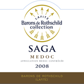 拉菲传说梅多克干红葡萄酒(Barons de Rothschild Collection Saga,Medoc,France)