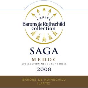 拉菲传说梅多克干红葡萄酒(Barons de Rothschild Collection Saga, Medoc, France)