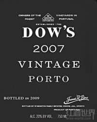 辛明顿家族道斯年份波特酒(Symington Family Dow's Vintage Port,Douro,Portugal)