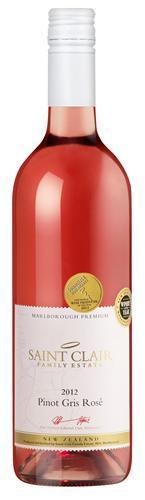 圣克莱尔优质灰皮诺桃红葡萄酒(Saint Clair Premium Pinot Gris Rose,Marlborough,New Zealand)