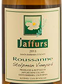 加福尔斯珊瑚白葡萄酒(Jaffurs Wine Cellars Roussanne,Santa Barbara,USA)