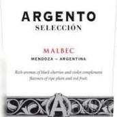 银谷精选马尔贝克干红葡萄酒(Argento Seleccion Malbec, Mendoza, Argentina)