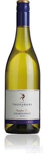 索恩伯里霞多丽干白葡萄酒(霍克斯湾)(Thornbury Chardonnay,Hawkes Bay,New Zealand)